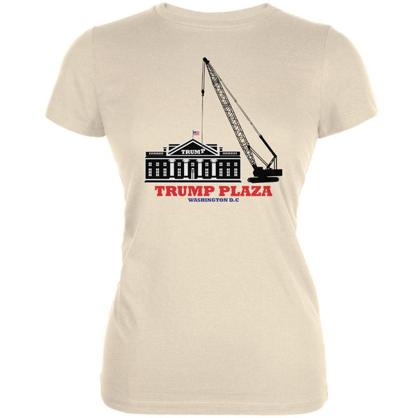Election 2016 Trump Plaza Washington DC Cream Juniors Soft T-Shirt