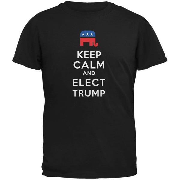 Election 2016 Keep Calm and Elect Trump Black Adult T-Shirt