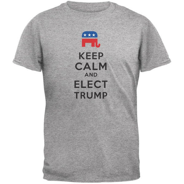 Election 2016 Keep Calm and Elect Trump Heather Grey Adult T-Shirt