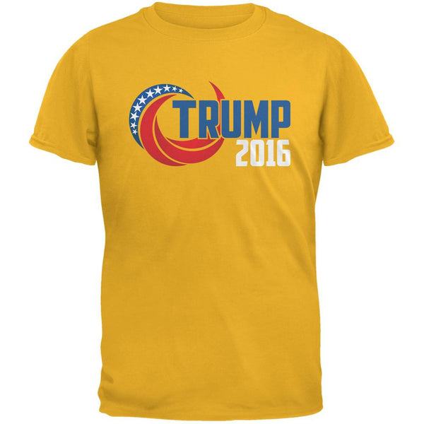 Election 2016 Trump 2016 Swoosh Gold Adult T-Shirt
