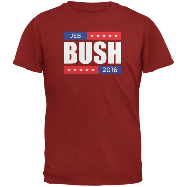Election 2016 Jeb Bush Stacked Cardinal Red Adult T-Shirt