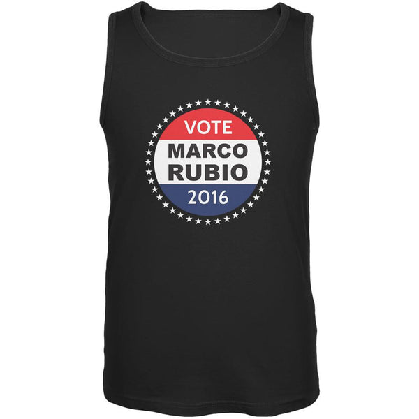 Election 2016 Marco Rubio Badge Black Adult Tank Top
