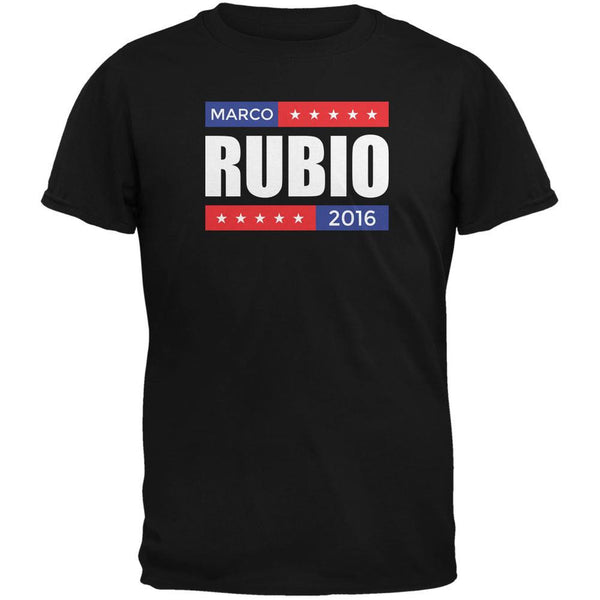 Election 2016 Marco Rubio Stacked Black Adult T-Shirt