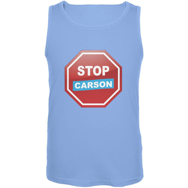 Election 2016 Stop Carson Carolina Blue Adult Tank Top