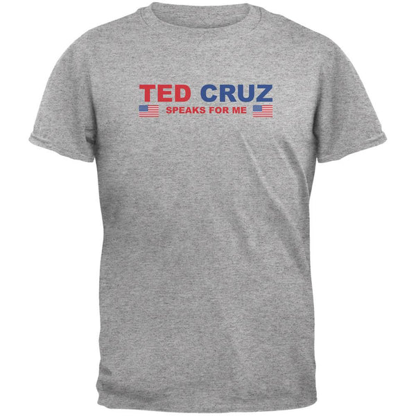Election 2016 Cruz Speaks For Me Heather Grey Adult T-Shirt