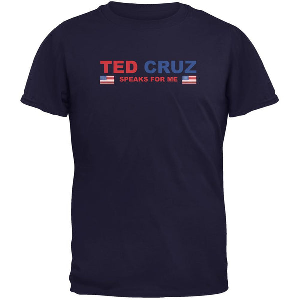 Election 2016 Cruz Speaks For Me Navy Adult T-Shirt