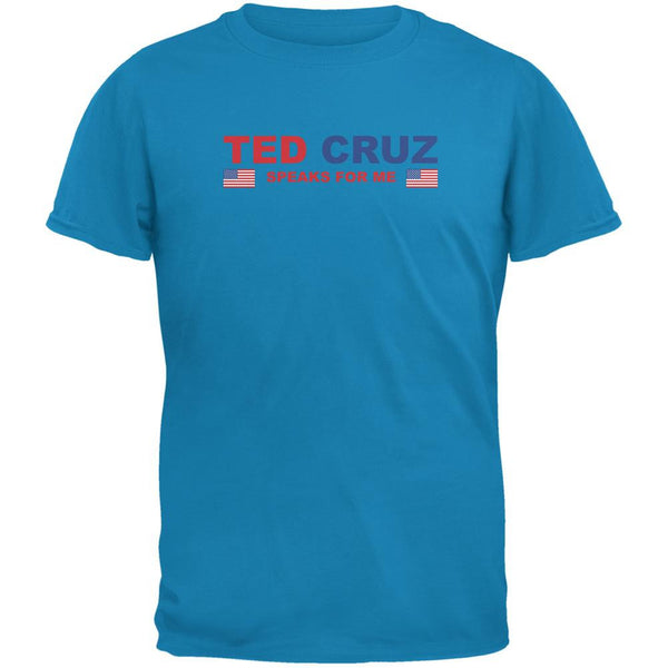 Election 2016 Cruz Speaks For Me Sapphire Blue Adult T-Shirt