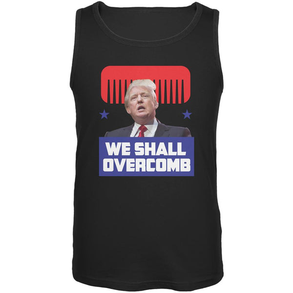 Election 2016 Trump We Shall Overcomb Black Adult Tank Top