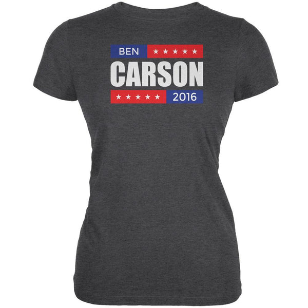 Election 2016 Ben Carson Stacked Dark Heather Juniors Soft T-Shirt