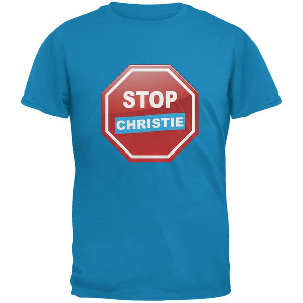 Election 2016 Stop Christie Sapphire Blue Adult T-Shirt