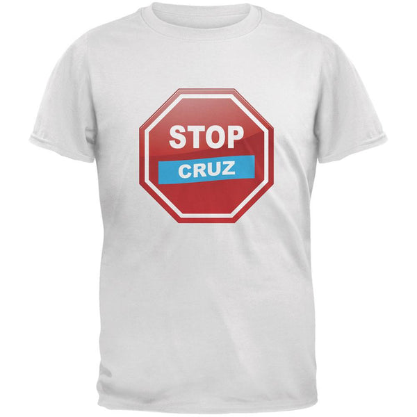 Election 2016 Stop Cruz White Adult T-Shirt
