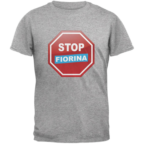 Election 2016 Stop Fiorina Heather Grey Adult T-Shirt