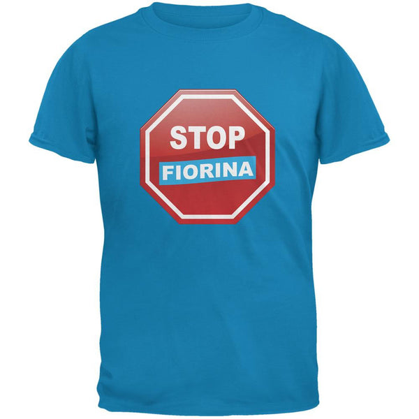 Election 2016 Stop Fiorina Sapphire Blue Adult T-Shirt