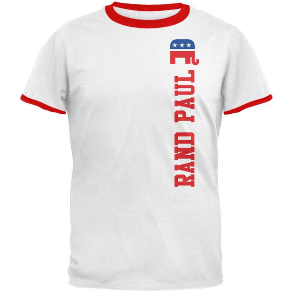 Election 2016 Team Rand Paul White/Red Men's Ringer T-Shirt