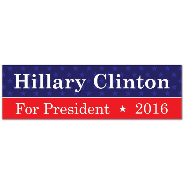 Election 2016 Hillary Clinton Sticker 3x10in. Rectangular Sticker