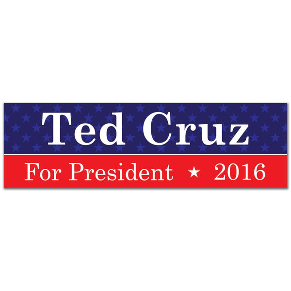 Election 2016 Ted Cruz Sticker 3x10in. Rectangular Sticker