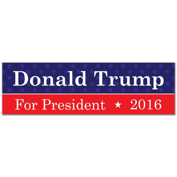 Election 2016 Donald Trump Sticker 3x10in. Rectangular Sticker