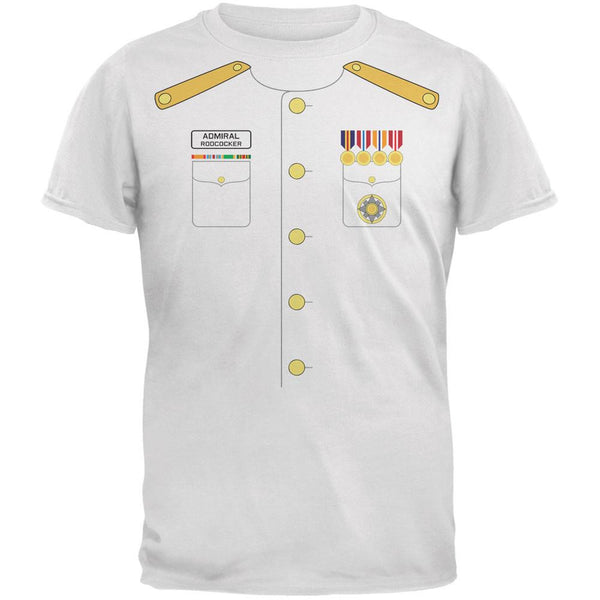 Halloween Admiral Rodcocker Costume White Adult T-Shirt