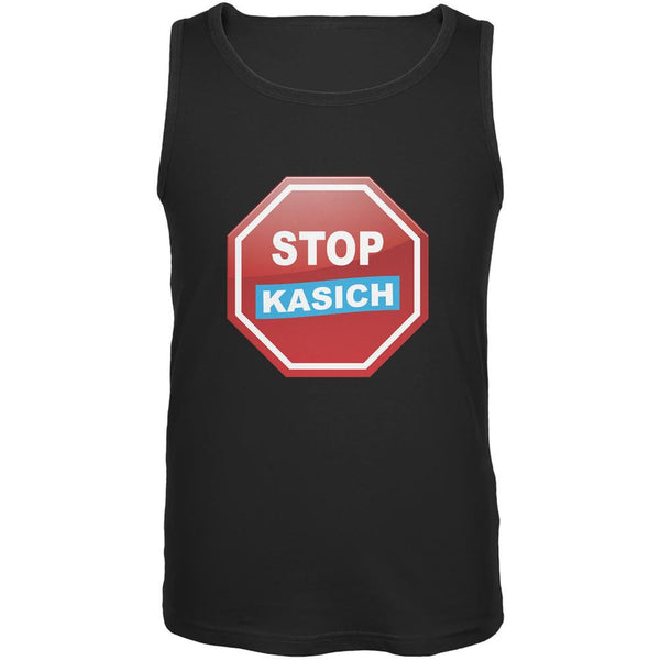 Election 2016 Stop Kasich Black Adult Tank Top