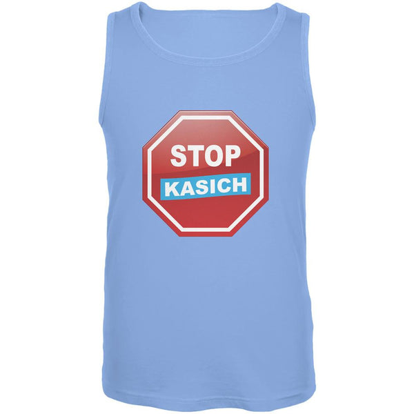 Election 2016 Stop Kasich Carolina Blue Adult Tank Top