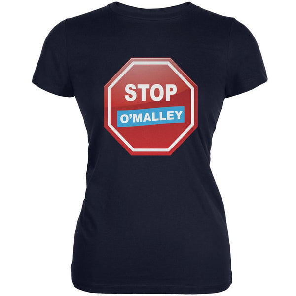 Election 2016 Stop O'Malley Navy Juniors Soft T-Shirt