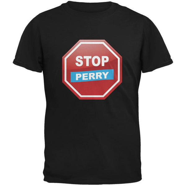 Election 2016 Stop Perry Black Adult T-Shirt