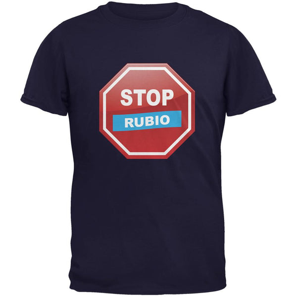 Election 2016 Stop Rubio Navy Adult T-Shirt