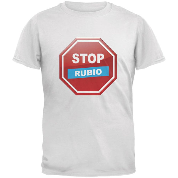 Election 2016 Stop Rubio White Adult T-Shirt