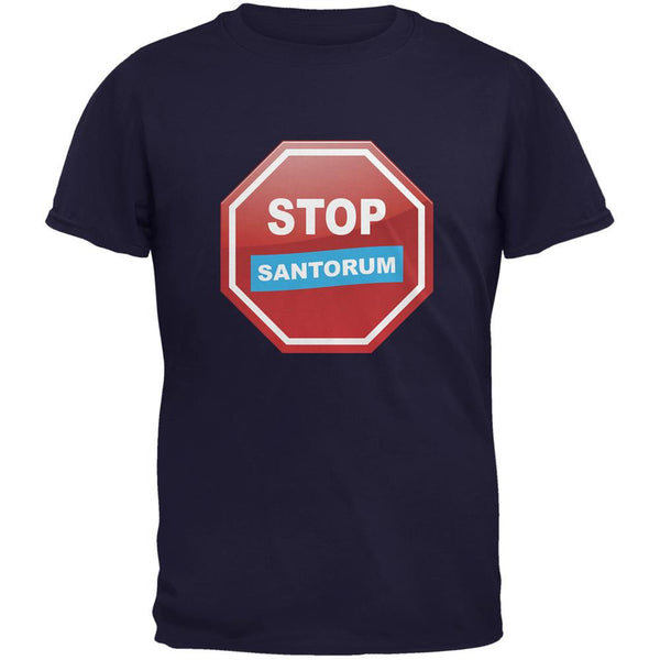 Election 2016 Stop Santorum Navy Adult T-Shirt