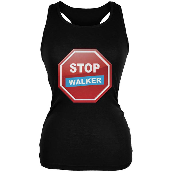 Election 2016 Stop Walker Black Juniors Soft Tank Top