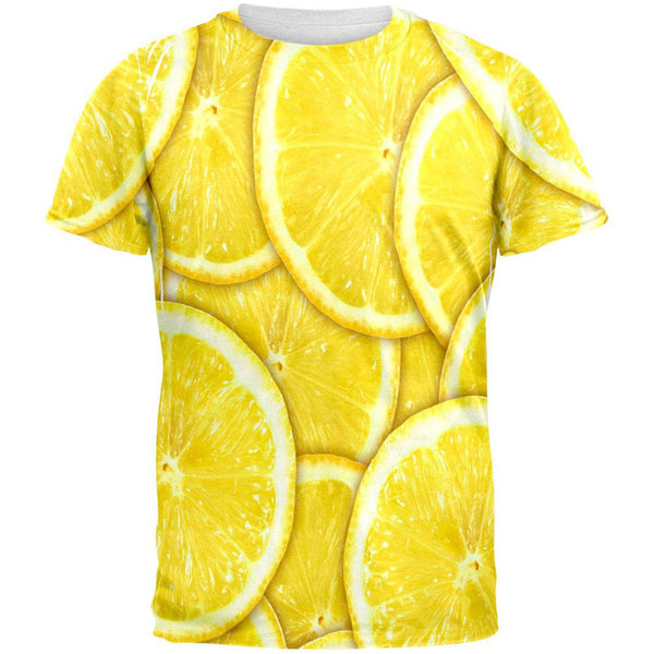 Lemon Lemons Citrus All Over Adult T-Shirt