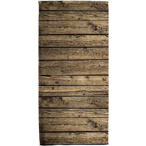 Wood Planks All Over Plush Beach Towel