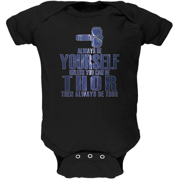 Always Be Yourself Thor Black Soft Baby One Piece