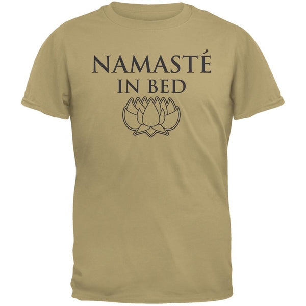 Namaste In Bed Tan Adult T-Shirt