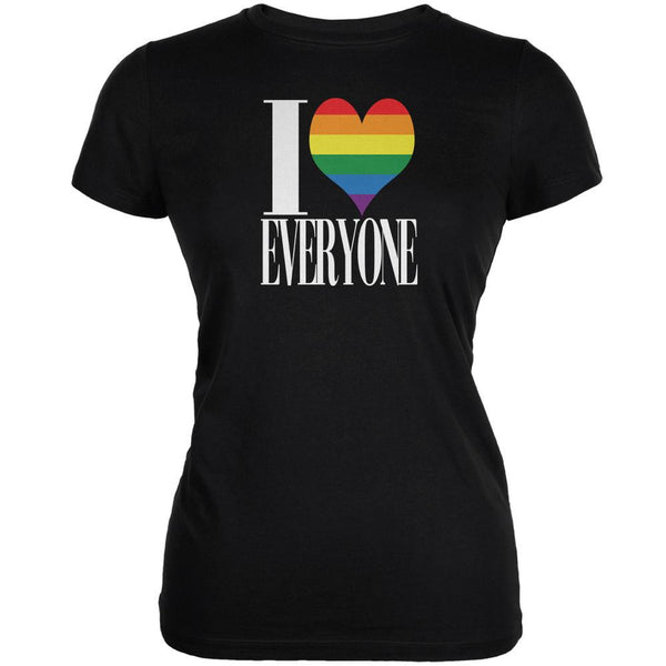 LGBT I Heart Everyone Bi-Sexual Black Juniors Soft T-Shirt