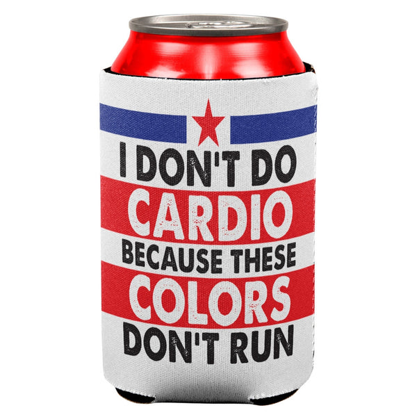 4th Of July I Don't Do Cardio All Over Can Cooler
