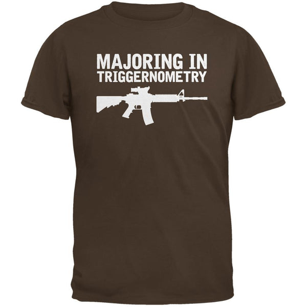 Majoring In Triggernometry Brown Adult T-Shirt