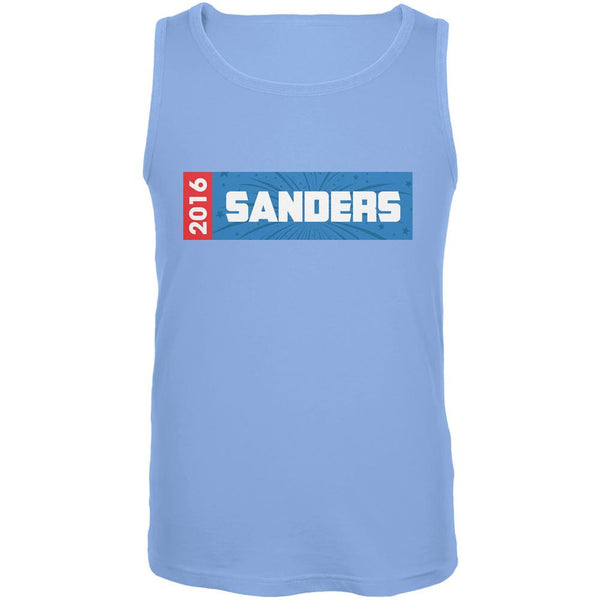 Election 2016 Sanders Rectangle Logo Carolina Blue Adult Tank Top