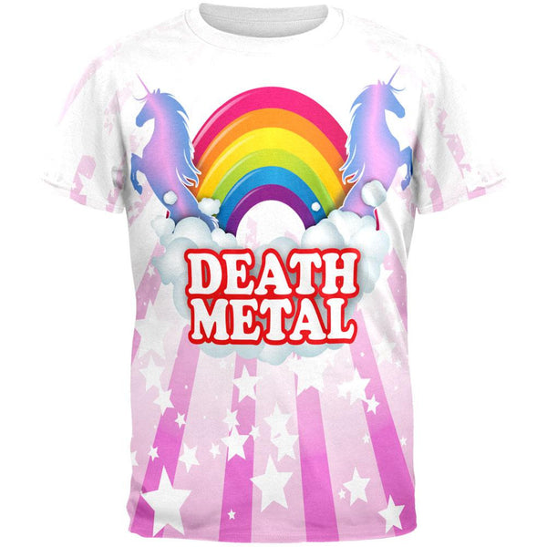 Death Metal Rainbow All Over Adult T-Shirt