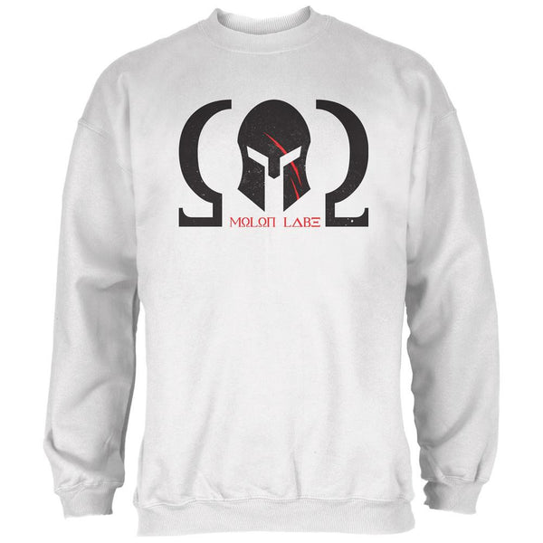 Molon Labe Helmet White Adult Sweatshirt