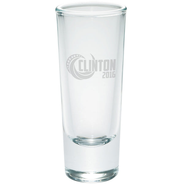 Election 2016 Clinton 2016 Swoosh Etched Shot Glass Shooter