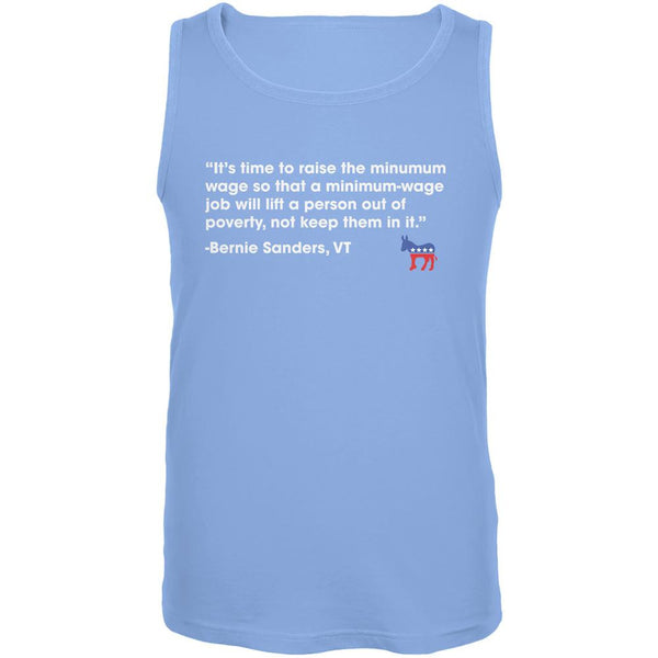 Election 2016 Bernie Sanders Poverty Quote Blue Adult Tank Top