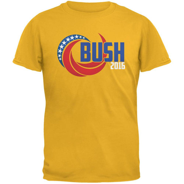 Election 2016 Bush 2016 Swoosh Gold Adult T-Shirt