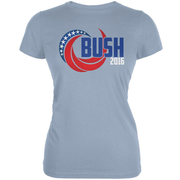 Election 2016 Bush 2016 Swoosh Light Blue Juniors Soft T-Shirt