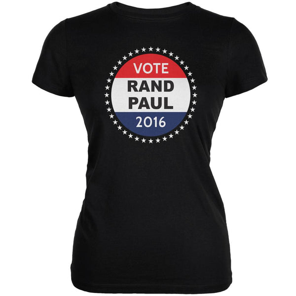 Election 2016 Rand Paul Badge Black Juniors Soft T-Shirt