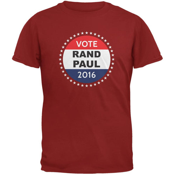 Election 2016 Rand Paul Badge Cardinal Red Adult T-Shirt