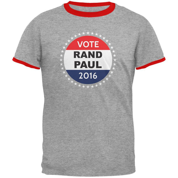 Election 2016 Rand Paul Badge Heather/Red Men's Ringer T-Shirt