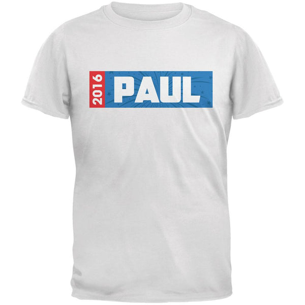 Election 2016 Paul Rectangle Logo White Adult T-Shirt