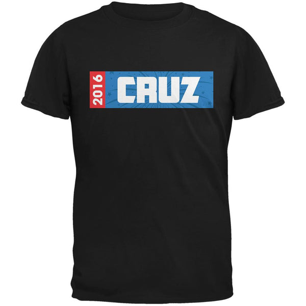 Election 2016 Cruz Rectangle Logo Black Adult T-Shirt