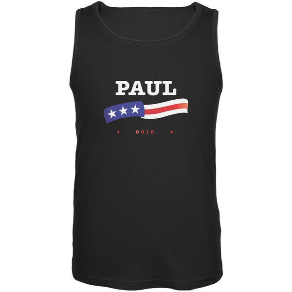Election 2016 Rand Paul American Flag Black Adult Tank Top